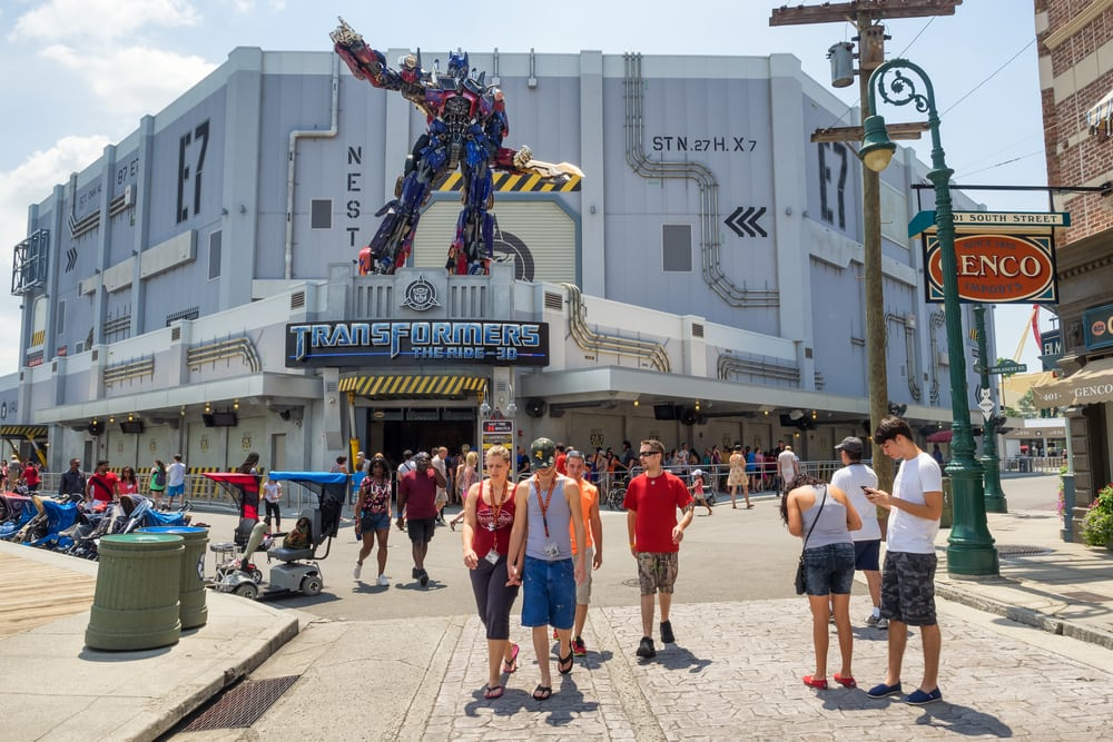 transformers ride, universal studios, orlando fl